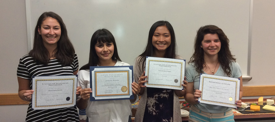 Students graduating with citations for outstanding achievement