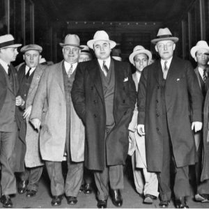 The Chicago gangster walking with a number of men